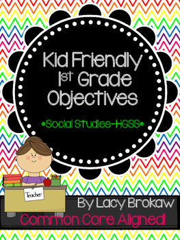 1st Grade HGSS Objectives