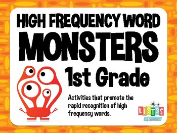 1st GRADE HIGH FREQUENCY WORD MONSTERS Workstation
