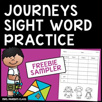 FREEBIE sampler! 1st Grade HM Journeys Lesson 1 sight words