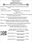 1st Grade HW Packet for Wonders, Lesson 1-2