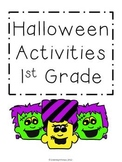 1st Grade Halloween Activities