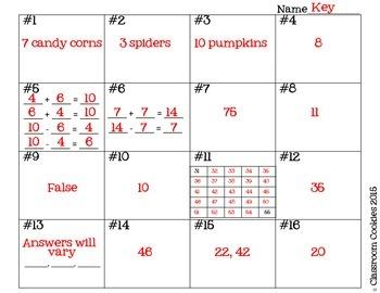 1st Grade Halloween Math (Common Core Aligned)