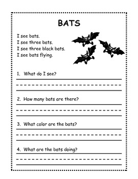 1st Grade Halloween Reading Worksheet by The Joyful Teacher | TpT