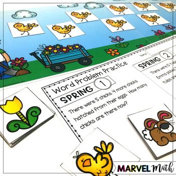 1st Grade Hands-On Word Problems Kit 10: Spring Problems