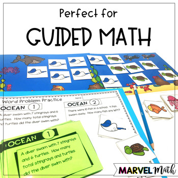 1st Grade Hands-On Word Problems Kit 2: Ocean Problems