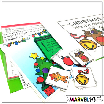 1st Grade Hands-On Word Problems Kit 7: Christmas Problems