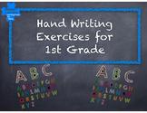 1st Grade Handwriting grip work