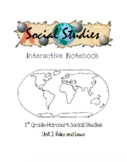 1st Grade Harcourt Social Studies Interactive Notebook Unit 1