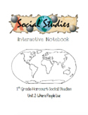 1st Grade Harcourt Social Studies Interactive Notebook Unit 2