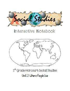 1st Grade Harcourt Social Studies Interactive Notebook Unit 2