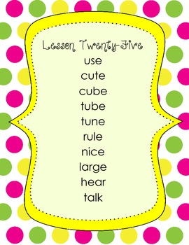 1st Grade Harcourt Storytown Spelling Word Lists - Theme 6