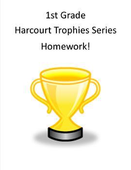 1st Grade Harcourt Trophies Homework Sheets