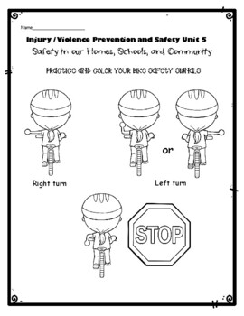 1st Grade Health - Unit 5: Injury / Violence Prevention and Safety