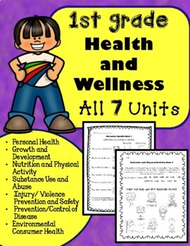 1st Grade Health Unit for the Entire Year!!