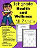 1st Grade Health Unit for the Entire Year!! (Meets Common Core)