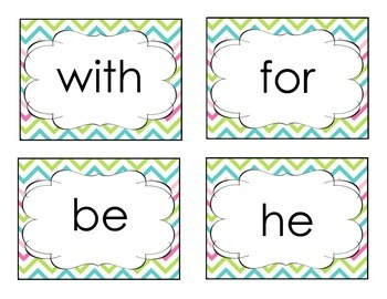 1st Grade High Frequency Sight Word Cards