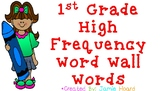 1st Grade High Frequency Word Wall Words