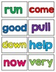 1st Grade High Frequency Words for California Treasures (Student Cards)