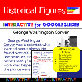 1st Grade Historical Figures Positive Character Traits: Google Interactive