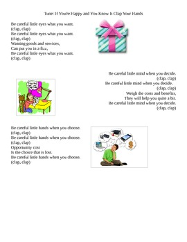Wants and Needs complete lesson plan, worksheet, card game and song