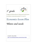 Wants and Needs complete lesson plan, worksheet, card game