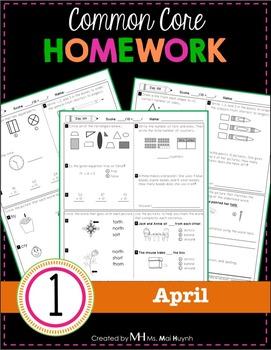 1st Grade Homework: April