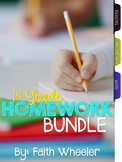 1st Grade Homework Bundle