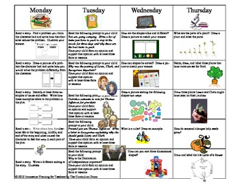1st Grade Homework Calendar For the Year