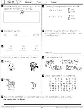 1st Grade Homework: February