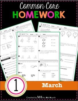 1st Grade Homework: March