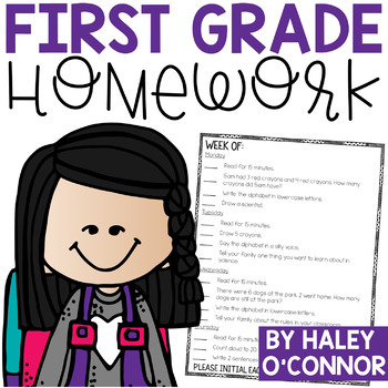 1st Grade Homework {Single Page and Standards Based}