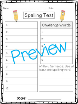 1st Grade Homework and Spelling Pack! WHOLE YEAR!!!