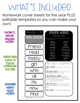 1st Grade Homework for the Year - Homework Time 1st Edition