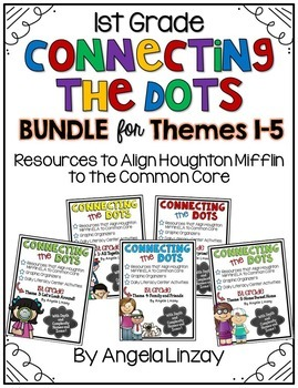 1st Grade ELA Common Core BUNDLE - Aligned with Houghton Mifflin Themes 1-5