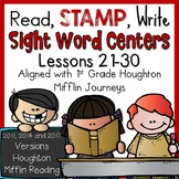 1st Grade Read Stamp Write Lessons 21-30 Aligned with Journeys 2011, 2014, 2017