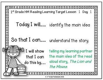 1st Grade Houghton Mifflin Journeys Reading Daily Learning Targets