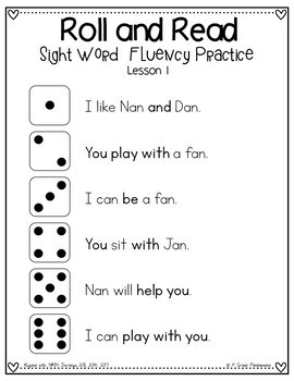 1st Grade Roll and Read Sight Word Centers Aligned with HMH Journeys 2011-2017