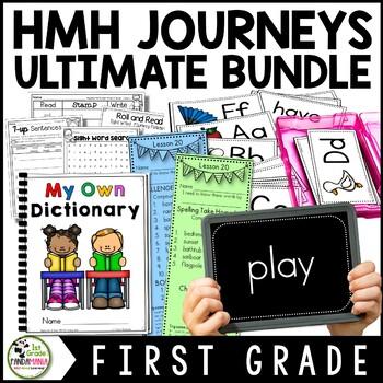 1st Grade Houghton Mifflin Journeys Reading, Writing, Spelling ULTIMATE BUNDLE