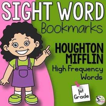 1st Grade Sight Word Lists on Bookmarks Aligned with HMH Journeys 2011-2017
