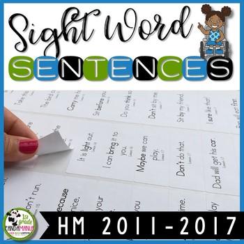1st Grade Houghton Mifflin Journeys Sight Word Sentences for Sticker Labels