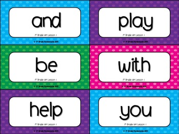 1st Grade Sight Word Wall with EDITABLE ppt Aligns with HMH Journeys 2011-2017