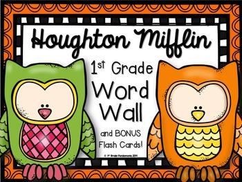 1st Grade Houghton Mifflin Journeys Word Wall Owl Theme an