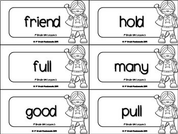 1st Grade Houghton Mifflin Journeys Superhero Word Wall and Flashcards