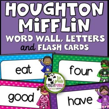 1st Grade Houghton Mifflin Journeys Superhero Word Wall an