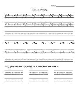 1st Grade Houghton Mifflin Work on Writing Theme 1 Week 1