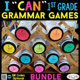 1st Grade I CAN Grammar Games | Literacy Centers | BUNDLE