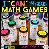 1st Grade I CAN Math Games | Math Centers | BUNDLE