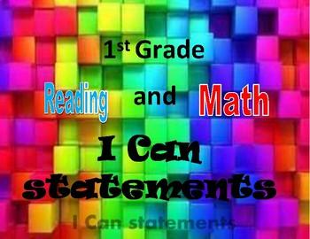 """1st Grade """"I Can"""" Standards (GA Bulldog Theme)"""
