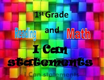 "1st Grade ""I Can"" Standards - Owls"