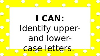 1st Grade I Can Statements